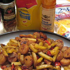 Hot Dog and Fries Hash With Variations