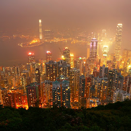city on file by Even Liu - City,  Street & Park  Skylines ( hong kong, skyline, asia, night, nightscape, city )
