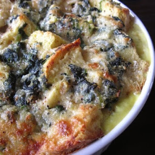 Spinach and Cheese Strata,