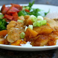 Savory Peach Chicken