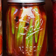 Smoky Pickled Okra