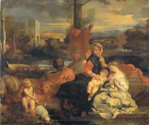 RIJKS: follower of Sébastien Bourdon: painting 1720