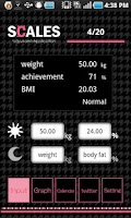 Screenshot of SCALES weight management