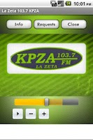 Screenshot of La Zeta 103.7 KPZA