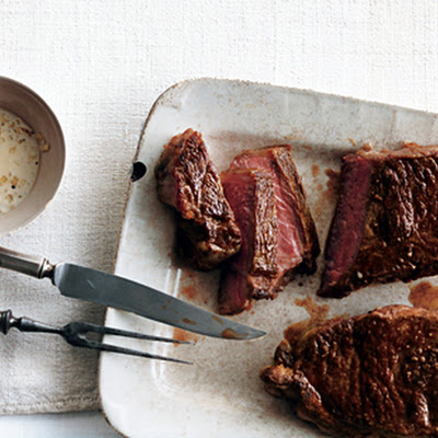 Steak with Lemongrass Peppercorn Sauce