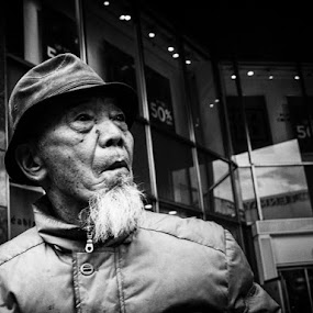 Untitled by Kurt K Gledhill - Black & White Portraits & People ( okayama, japan, street, candid, portrait )