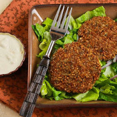 Ground Turkey and Quinoa Patties with Mint, Cumin, and Yogurt-Tahini Sauce