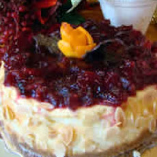 Easy Cranberry Orange Cheesecake