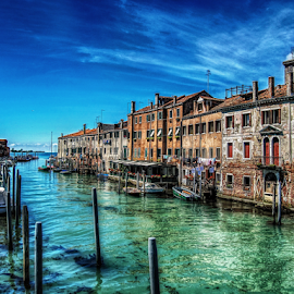 Venezia, Giudecca by Andrea Conti - City,  Street & Park  Historic Districts ( laguna, waterscape, boats, venice, sea, giudecca, italy, canal, historic,  )