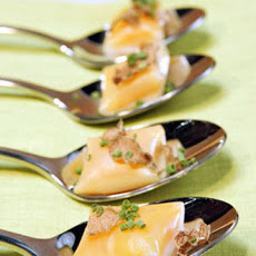 Liquid Butternut Squash Ravioli with White Truffle