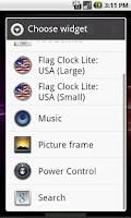 Screenshot of USA Flag Analog Clock Lite