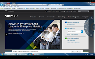 Screenshot of VMware Horizon Client