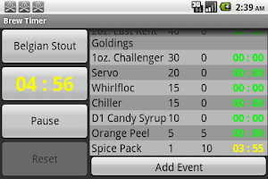 Screenshot of Brew Timer