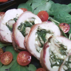 Bacon Wrapped Stuffed Chicken (Gluten Free)