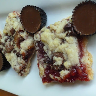 Cheery, Cherry Peanut Butter Cup Bars