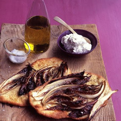 Radicchio Flat Bread with Whipped Ricotta