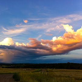 Beautiful Cloud Colors by MaryAnn Sei - Landscapes Cloud Formations ( clouds, cloud formations, novice, colorful, sunset, cloudscape, iphone )