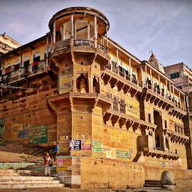 Heritage Building by Abhishek Sarkar - Buildings & Architecture Public & Historical ( building, india, varanasi, worship )