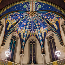 St. John's Indy by David Lawrence - Buildings & Architecture Places of Worship ( church, ceiling, indianapolis, catherderal, st. john's, Architecture, Ceilings, Ceiling, Buildings, Building )