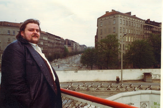 'Disability pensioner' and seasoned smuggler Manne Schulz looks back at the streets of Prenzlauuer Berg,, where he lives, from an observation platform near his parents' home a few streets - and a Wall - away in West Berlin.