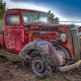 Auction Truck by Ron Meyers - Transportation Automobiles