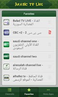 Screenshot of Arabic TV Live