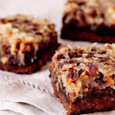 Coconut-Pecan-Crusted Brownies