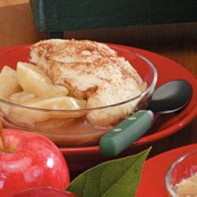 Microwave Apple Cobbler