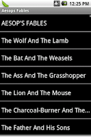 Screenshot of Aesop's Fables