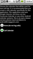 Screenshot of Call Log onto Calendar
