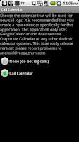 Screenshot of Call Log onto Calendar