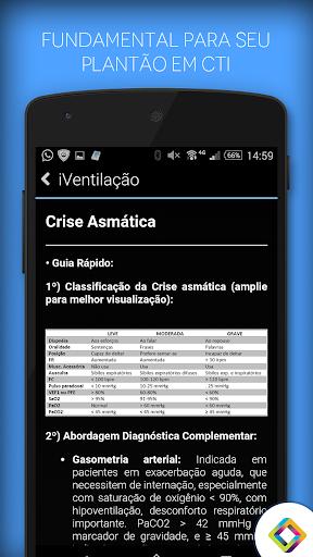 IVentilação, Guia para CTI - screenshot