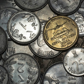 Coins by Aarsh Pandya Positive - Novices Only Objects & Still Life ( coins, indian currency, coin, indian rupees, india )