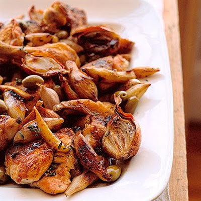 Roasted Chicken and Jerusalem Artichokes