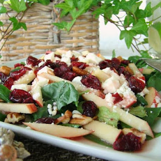 Cranberry Apple-Spinach Salad