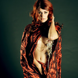 Red Witch 1 by Ken Aponte - Nudes & Boudoir Artistic Nude