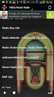 Screenshot of 60s Radio Top Sixties Music