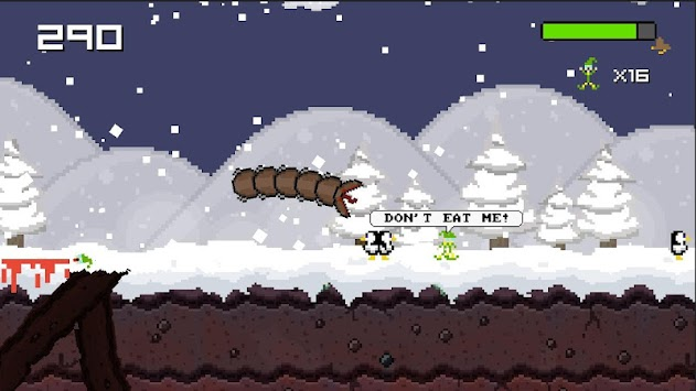 Super Mega Worm Vs Santa Saga apk screenshot