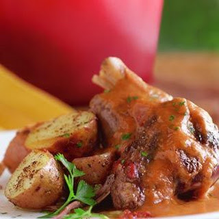 Braised Lamb Shanks with Roasted Potatoes