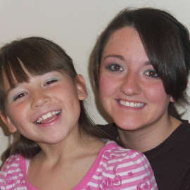 Two of my beautiful granddaughters.  Miss Em and Shey Bug by Patricia Lang - People Couples