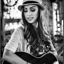 Chelsey Chavez by Charles Lugtu - People Portraits of Women ( music, chelsey chavez, promo, guitar, musician, album art, photography )