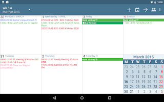 Screenshot of aCalendar+ Calendar & Tasks