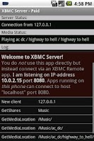 Screenshot of XBMC/Kodi Server (host) - Paid