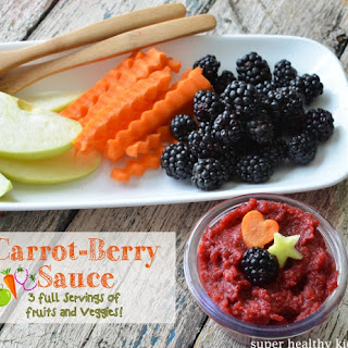 Carrot-Berry Lunchbox Applesauce