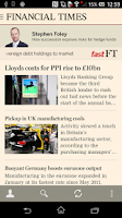 Screenshot of Financial Times