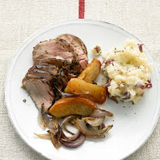 Pork Tenderloin with Roasted Apples and Onions