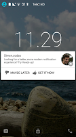 Screenshot of Heads-up notifications