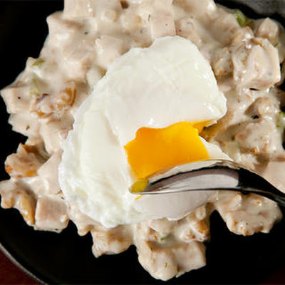 Turkey Hash with Poached Eggs
