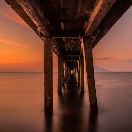 Every time i look at you by Jee Cornelius - Buildings & Architecture Bridges & Suspended Structures ( afternoon, indonesia, sunset, manado, beach, nikon, bridges )