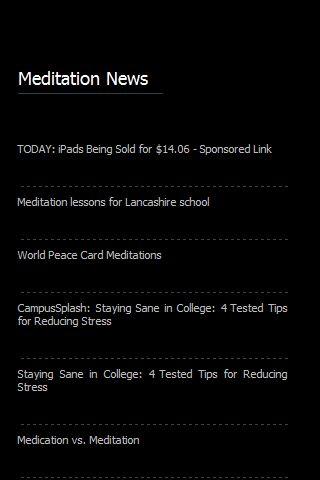 Meditation News